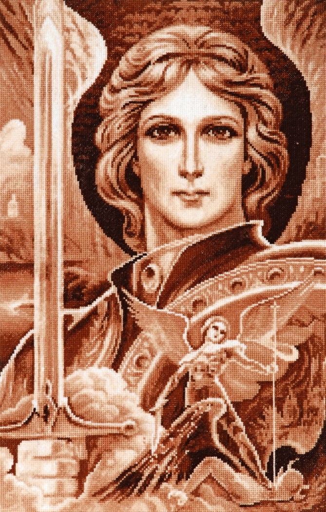 Архангел михаил вышивка крестом