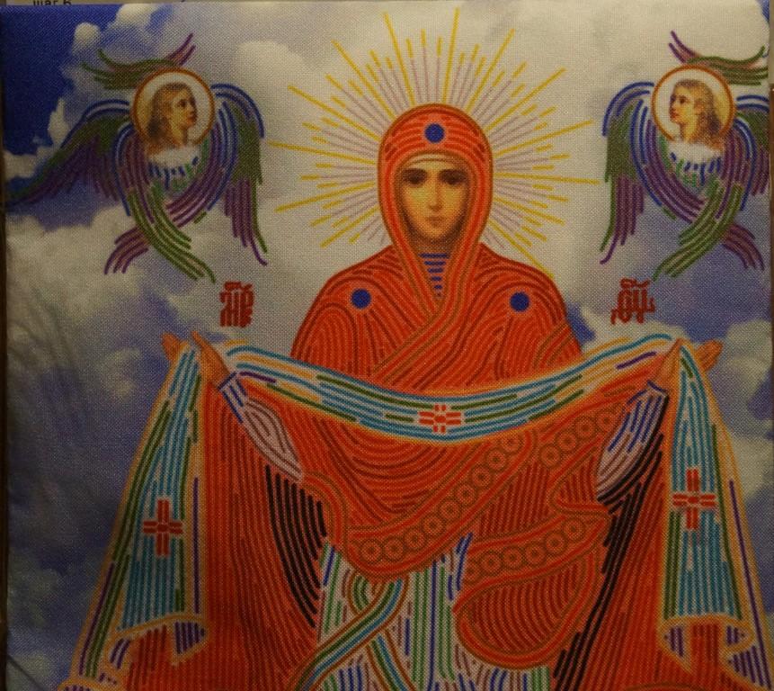 Схема для вышивки крестом иконы покрова пресвятой богородицы