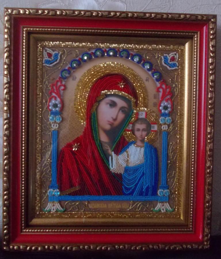 Казанская божия матерь вышивка бисером